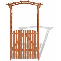 Arche pour jardin avec portique Bois massif 120 x 60 x 205 cm Marron