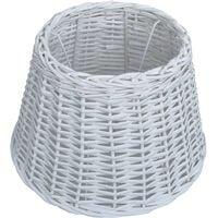 Abat-jour Osier 40x26 cm Blanc