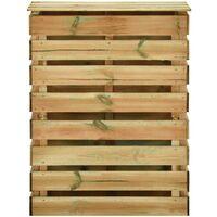 Composteur de jardin à lattes 80x50x100 cm Bois de pin imprégné