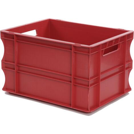 Bac gerbable 400x300x220 rouge Multiroir - Rouge