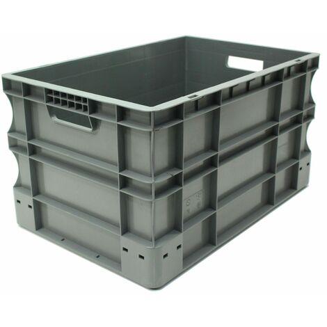Bac gerbable 600x400x320 gris Multiroir - Gris