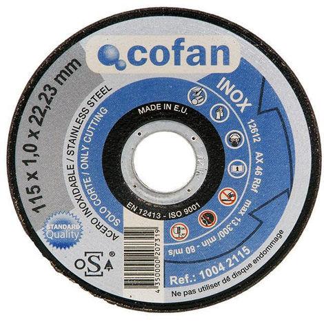 DISCO CORTE - 115X3,0X22,23 METAL STAND. - NEOFERR..