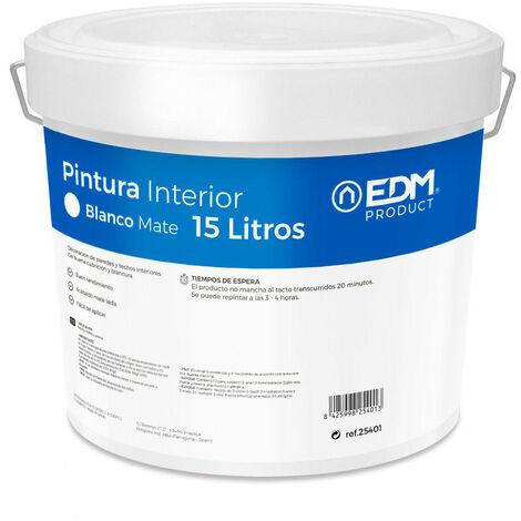 PINTURA PLASTICA MATE INTERIOR BLANCA 15L EDM - NEOFERR..