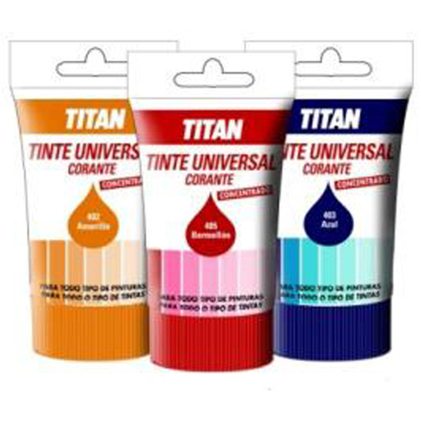 Tinte Universal Azul - TITAN - 089040314 - 250 ML..