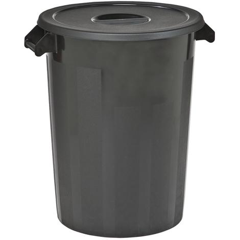CABLEPELADO Cubo Basura plastico Comunidad con Tapa 51 litros Negro