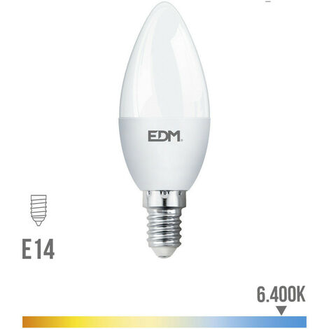 Bombilla Vela Led 5W 400 Lumens E14 6.400K Luz Fria Lumeco - NEOFERR..