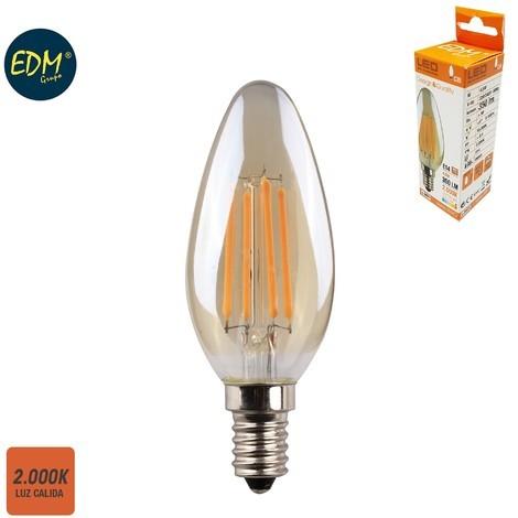 Bombilla Vela Filamento Led Cristal Vintage 4.5W E14 350 Lumens 2.000K - NEOFERR