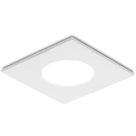 Foco Downlight LED IP54 Baños Y Cocinas Cuadrado 5W 350Lm 25.000H | Blanco Frío (RU-1712-CW)