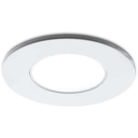 Foco Downlight LED IP54 Baños Y Cocinas 5W 350Lm 25.000H   Blanco Frío (RU-1710-CW)