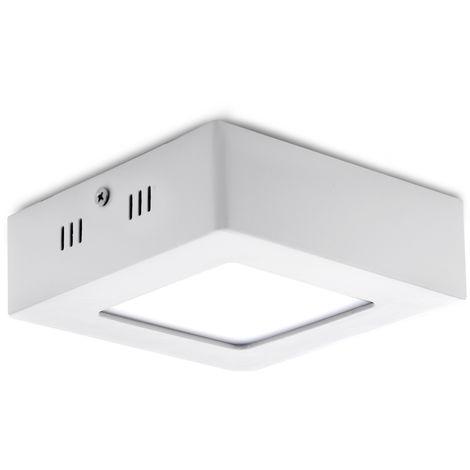 Plafón LED Cuadrado Superficie 120Mm 6W 470Lm 30.000H | Blanco Natural (GR-MZMD02-6W-CW)