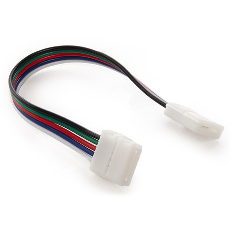 Conector Tira LED RGBw Doble con Cable (CA-CON-RGBW-D-C)
