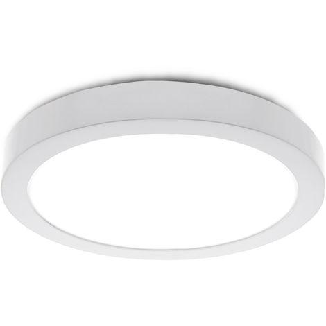 Plafón LED Circular Superficie Ø295Mm 24W 1900Lm 30.000H   Blanco Cálido (HO-PLAF-C-24W-CW)