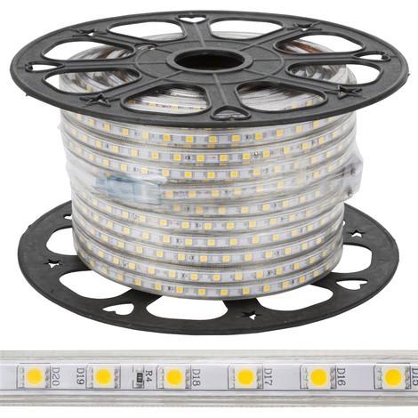Tira de 60 LEDs/M 500W 42.000Lm SMD5050 220VAC IP65 x50M 30.000H [GR220/60/50M]   Blanco Frío (GR220/60/50M)