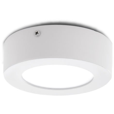 Plafón LED Circular Superficie Ø120Mm 6W 470Lm 30.000H   Blanco Cálido (GR-MZMD01-6W-CW)