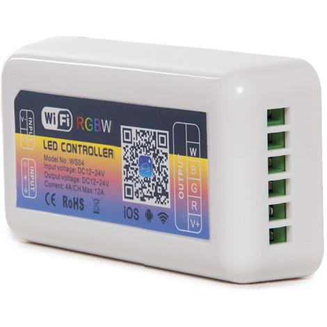 Controlador Wifi Tira LED RGB/Blanco - Compatible Alexa (CA-WS04)
