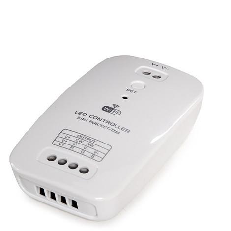 Controlador Wifi Tira LED - Tres En Uno - Temperatura Color/Rgb/Dim - Compatible Alexa (CA-CWFI-RGB_CCT_DIM)