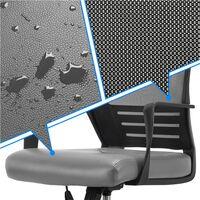 Yaheetech Chaise de Bureau Ergonomique Fauteuil de Direction pour Ordinateur Siège Pivotant Plus Large avec Dossier Inclinable Respirant en Maille Imitation Cuir Gris