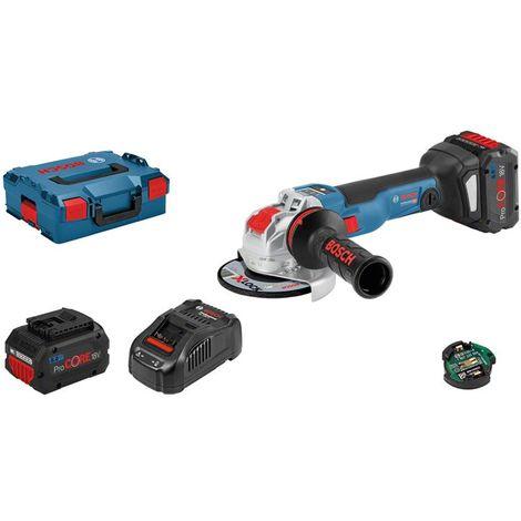 Meuleuse BOSCH X-Lock GWX 18V-10 SC - 18V 8.0 Ah, chargeur, coffret - 06017B0401
