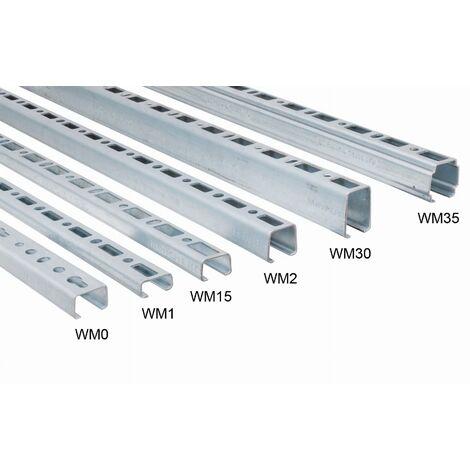 Rail de montage WALRAVEN BIS RapidRail - WM0 27 x 18 mm - 2 mètres - 6505000