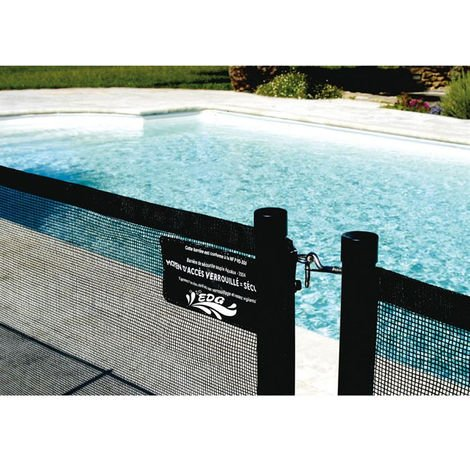 Barrière de protection souple noire AQUALUX - hauteur 1.25m - module 2ml - 105152
