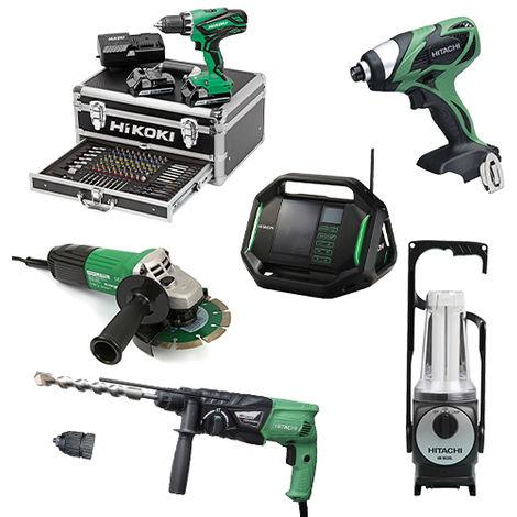 Lot Perceuse + 5 outils -2 batteries 18V 2,5Ah Hitachi/Hikoki