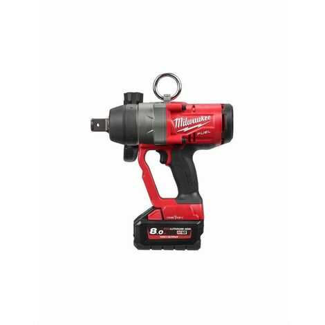 Boulonneuse MILWAUKEE 1 18V 8Ah M18 ONEFHIWF1-802X - 2 Batterie 8.0Ah 18V, chargeur, coffret - 4933459733
