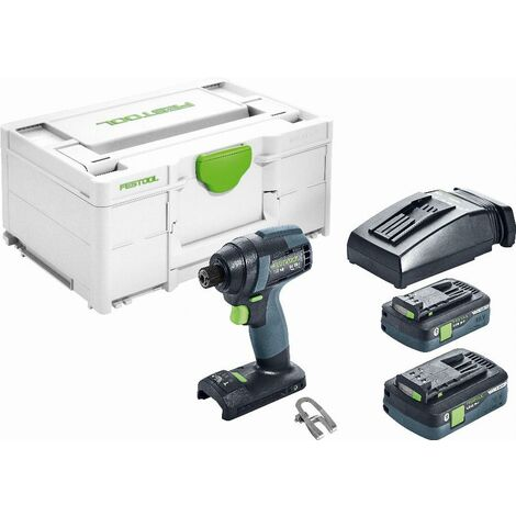 Visseuse à chocs sans fil TID 18-Basic FESTOOL - 2 batterie, chargeur - en Systainer3 - 576482