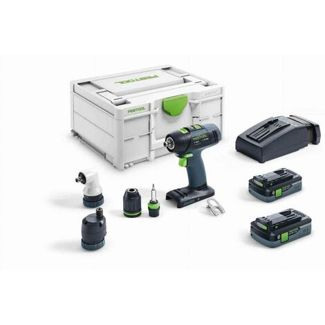 Perceuse-visseuse sans fil T 18+3 HPC 4,0 I-Set FESTOOL - 576455