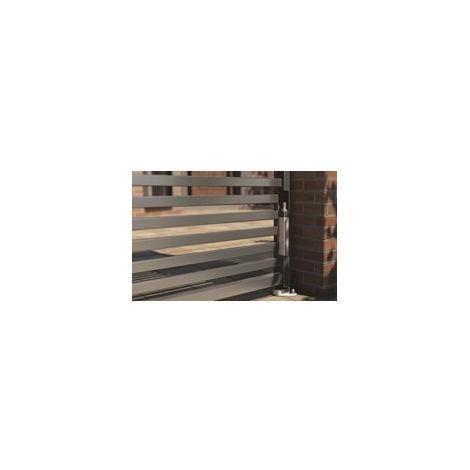 Kit fixation au sol pour ferme-portail Interio LOCINOX - INTERIO-GROUND-9005