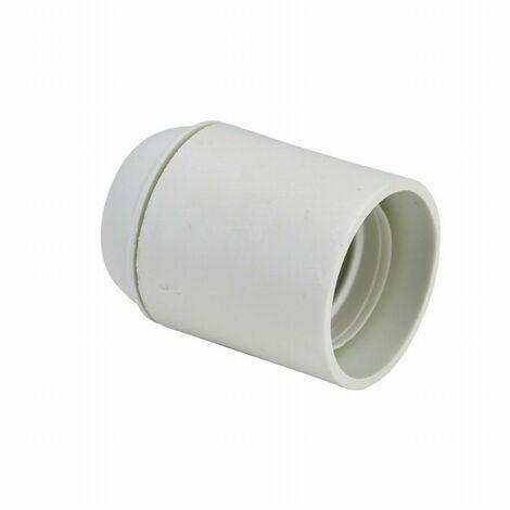Douille E27 chemise lisse raccord fileté de 10mm DEBFLEX Blanc - 712650