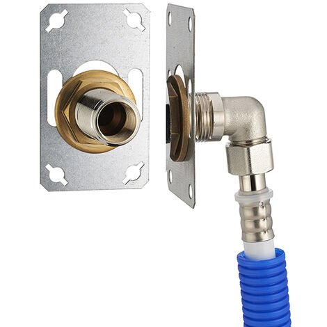 FIXSYSTEM simple : kit complet de fixation d'un robinet mural simple M1/2' (15x21) Coude d'alimentation à sertir profil U sur tube multicouche NOYON & THIEBAULT - Ø 16 mm, sortie femelle 1/2' (15x21) - 3341-16PL1
