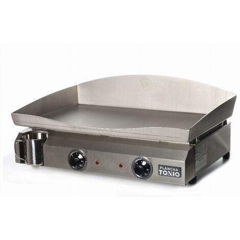 Plancha électrique ELECTICA 2 résistances - Plaque INOX - PL4