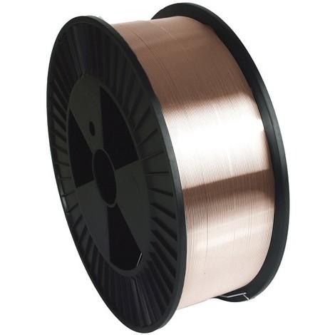 Fil plein acier GYS G3Si1/ER70S-6 Ø0.8 mm - Bobine plastique S300 / 5 kg - 086128