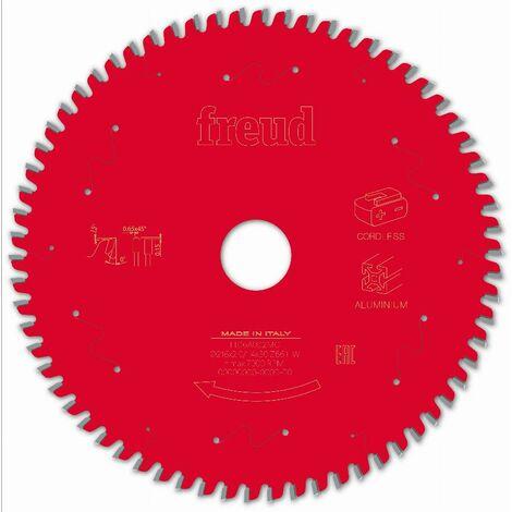 Lame pour scie circulaire portative sans fil FREUD - Ø216 2/1,4 AL30 Z66 TP 0° - F03FS10089 -FR16A002MC
