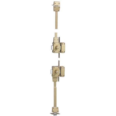 Verrou de sûreté ISEO CITY 4 points - 2 entrées - Cylindre 50 mm - Droite - 15530501.5