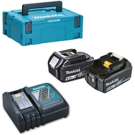 Pack Énergie MAKITA 18 V 6 Ah Li-Ion 2 batteries BL1860B + 1 chargeur + coffret MAKPAC - 198116-4