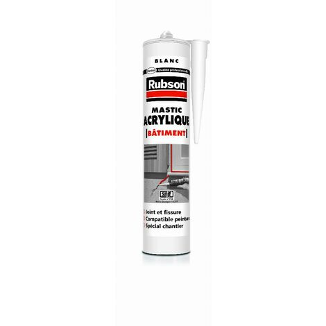 Mastic acrylique bâtiment RUBSON - 300 ml - blanc - 2622524