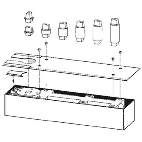 Axe rectangulaire rallonge 10 mm pour BTS75 / BTS84 DORMA - 45200404