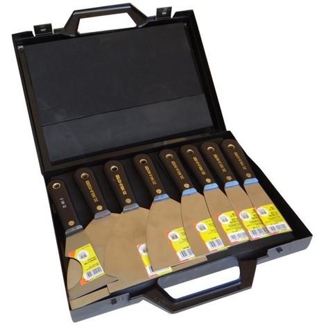 Mallette de 7 spatules ROGER MONDELIN de peintres type américain + 1 couteau multi usages - 221679