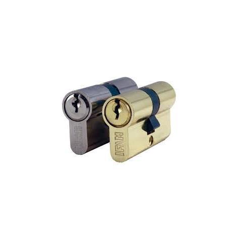 Cylindre européen nickelé varié Série C IFAM - 40+55 - 3 clefs - Vis 5x40/5x60 - 14485