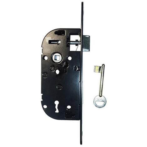 Coffre axe 40 NF métalux clé L gauche noir même variure EURO-ELZETT - sur gâche réversible - A734983990 ROZ
