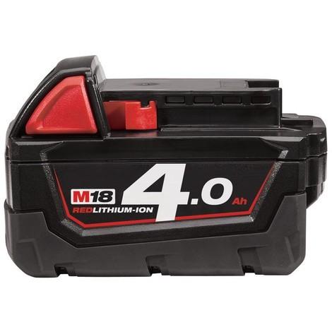 Batterie MILWAUKEE 18V 4Ah Red Li-Ion M18 B4 - 4932430063