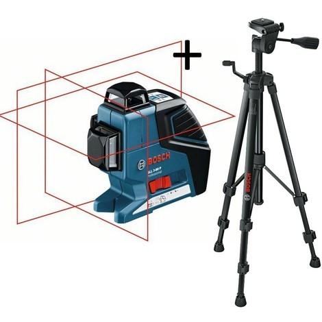 Laser en croix GLL 3-80 C + trépied BT 150 BOSCH PROFESSIONAL - 0601063R01