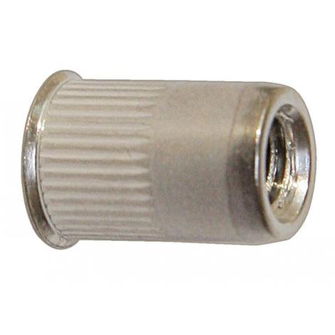 Boite de 100 écrous crantés ACTON à sertir - Ø4 mm - Tête affleurante Inox A2 - 626334