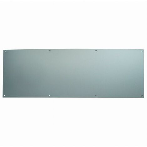 Plinthe de protection percée et fraisée DUVAL bas de porte - Alu argent 730 x 250 mm - 11-0102-1120