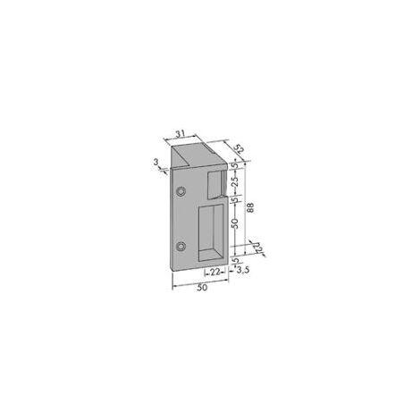 Gâche horizontale 12V à établissement JPM Contact stationnaire - Droite - 10111B-01-1A