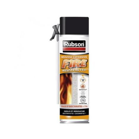 Mousse expansive Fire B2 Rubson - aérosol 500 ml - 2254254