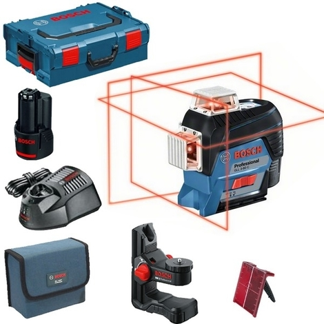 Laser lignes BOSCH GLL3-80C - Auto 3 plans 30m + BM1 L-BOXX - 0601063R02
