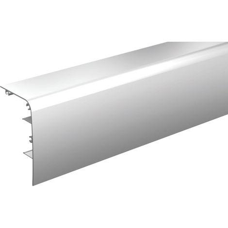 Bandeau alu anodisé MANTION pour fixation du rail au mur SAF40/SAF80 - L.2 m - 11041/200