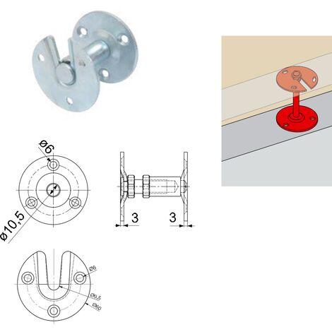 Support rampe droit réglable TORBEL zingué - 9930031